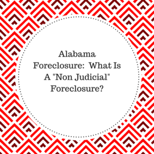 non judicial foreclosure